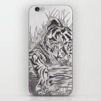cute tiger iPhone & iPod Skin