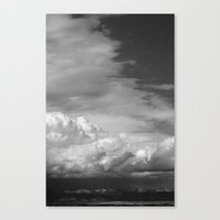 Bookcliffs B/w 2.0 Canvas Print