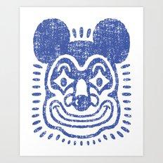 Indigo Mouse Clown Art Print
