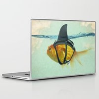 orange Laptop & iPad Skins featuring Brilliant DISGUISE by Vin Zzep