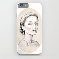 iPhone & iPod Case featuring Portrait by Libby Watkins Illustration