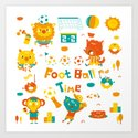 football time Art Print