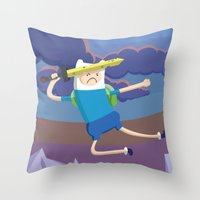 Finn the Human is gonna KICK YOUR BUTT! Throw Pillow