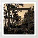 ruby beach, wa, usa old school (2x square) Art Print