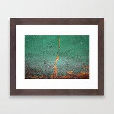 Cracked wall Framed Art Print