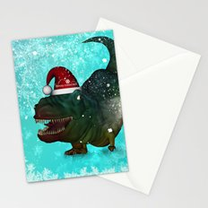 T-rex, merry christmas Stationery Cards