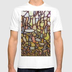 Stained Glass Mens Fitted Tee White SMALL