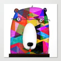 BEAR SPECTACLES Canvas Print