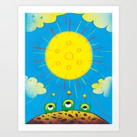 Solar Power Art Print