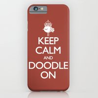 iPhone & iPod Case featuring Keep Calm & Doodle On (Red) by wanton doodle