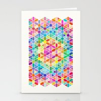 Rainbow Honeycomb With S… Stationery Cards