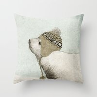 First Winter Throw Pillow
