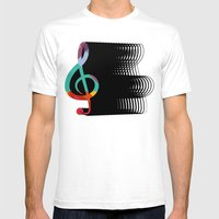 Treble Clef  Mens Fitted Tee White SMALL