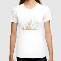 When We Kiss, I See Stars Womens Fitted Tee White SMALL