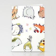 mochi and foliage Stationery Cards