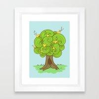 The Music Tree Framed Art Print