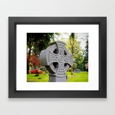 Cemetery beauty Framed Art Print