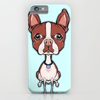 iPhone & iPod Case featuring Puppy Boston Terrier by Cartoon Your Memories