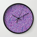 fluo pinkblue Wall Clock