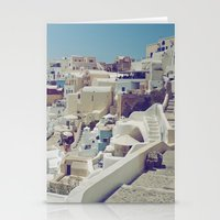 Streets of Santorini II Stationery Cards