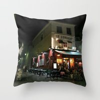 Paris by Night Throw Pillow