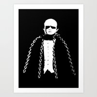 Monster in Chains Art Print