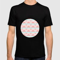 Pastel Pattern Mens Fitted Tee Black SMALL