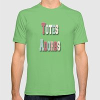 Totes Adorbs Mens Fitted Tee Grass SMALL