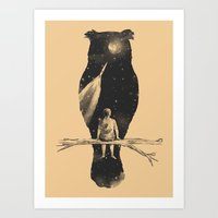 clouds Art Prints featuring I Have a Dream by Norman Duenas