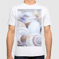 Shells Mens Fitted Tee Ash Grey SMALL