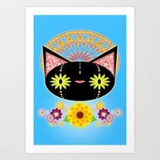 Silent Feline Art Print
