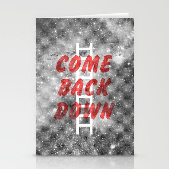 Come Back Down. Stationery Card