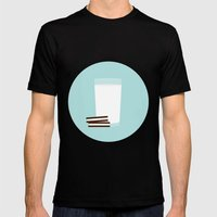 #25 Milk And Cookies Mens Fitted Tee Black SMALL