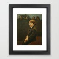 Little Benny Framed Art Print