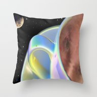 Flying Cup And Saucer Throw Pillow