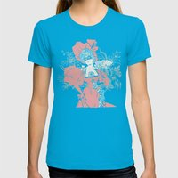 Masquerade Womens Fitted Tee Teal SMALL