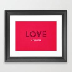 LOVE is pixelated Framed Art Print