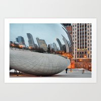 Chicago Bean - Big City … Art Print