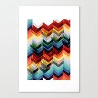 Chevron Multicolour Canvas Print