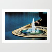 The Fountain At The Poin… Art Print