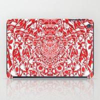 Illusionary Daisy (Red) iPad Case