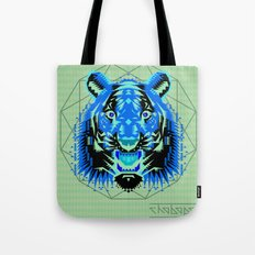 Geometric Tiger Tote Bag