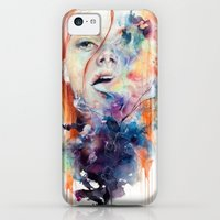 iPhone 5c Cases featuring this thing called art is really dangerous by agnes-cecile
