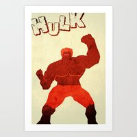 The Avengers Hulk Art Print