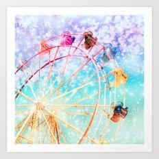 Galaxy Wheel Art Print
