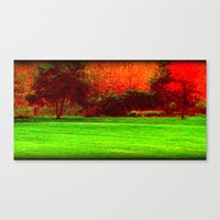 Red Trees two Canvas Print