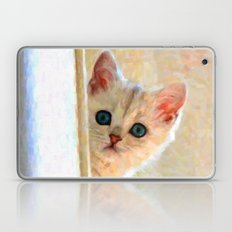 Kitten By The Window - Painting Style Laptop & iPad Skin