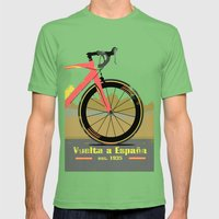 Vuelta A Espana Bike Mens Fitted Tee Grass SMALL