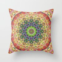 Intricate Colorful Abstr… Throw Pillow