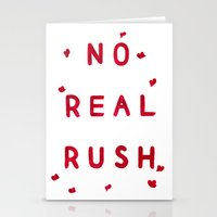 No Real Rush Stationery Cards